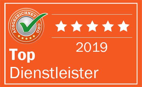 Ausgezeichnet.org / Top Dienstleister 2018 Auszeichnung