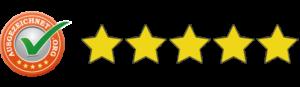 5 Sterne von Ausgezeichnet.org
